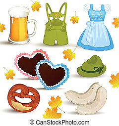 Vector Oktoberfest Set - Vector set with oktoberfest...