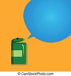 Vector old bank with a speech bubble