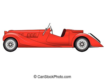 Vector old classic race car - Vector illustration of the old...