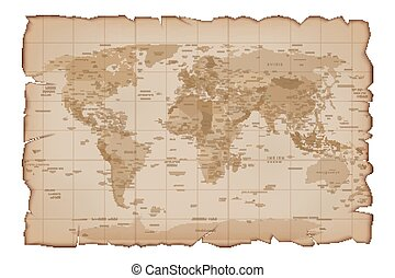 Vector Old map Paper