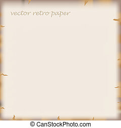 vector old paper - old paper vector background with place...