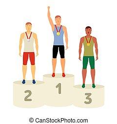 vector, olympisch, attributes
