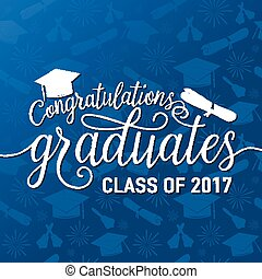 Vector on seamless graduations background congratulations...