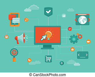 Vector online business concept