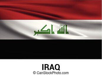 vector, ontwerp, dag, irak, onafhankelijkheid