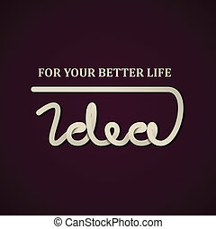vector, ontwerp, idee, mal, calligraphic