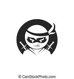 vector, ontwerp, illustratie, pictogram, ninja