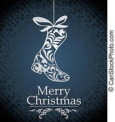 vector, ontwerp, kerstmis