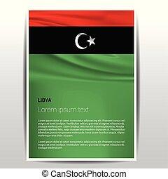 vector, ontwerp, libiya, onafhankelijkheid dag