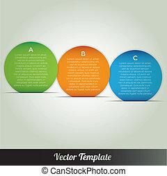 vector, ontwerp, mal