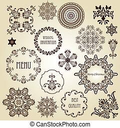 vector, ontwerp, ouderwetse , communie