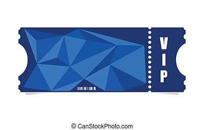 vector, ontwerp, ticket, moderne, driehoek