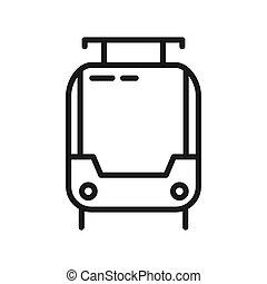vector, ontwerp, tramway, illustratie