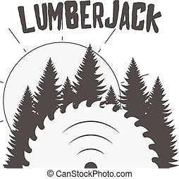 vector, ontwerp, van, houtwerk, postkaart