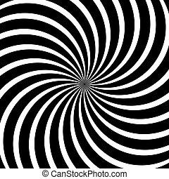 Vector Op Art Spiral Swirl Background