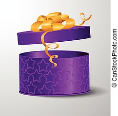 Vector open gift box illustration