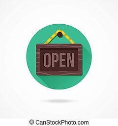 Vector Open Hanging Sign Icon