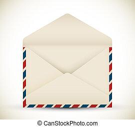 Vector open vintage envelope