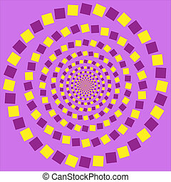 Vector - optic illusion - abstract desgin with geometric...