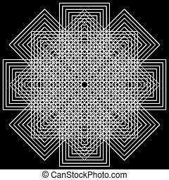 vector optical art - Abstract design with geometric shapes ...