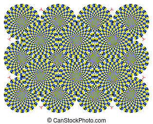 Vector optical illusion Spin Cycle background (EPS)