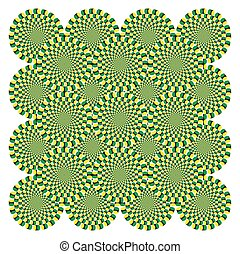 Vector Optical illusion Spin Cycle background pattern