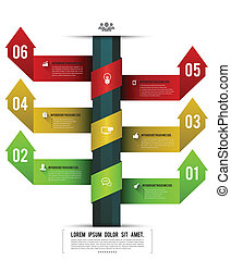 Vector options banner arrows. can use for business concept / planning / brochure / business concept.