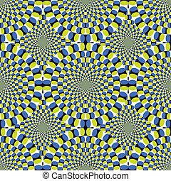 vector, optisch, achtergrond, spinnen, illusie, (eps), cyclus