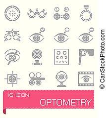 Vector Optometry icon set