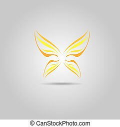 vector orange Abstract butterfly