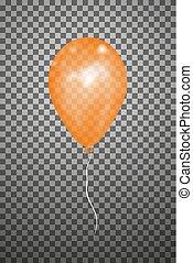 Vector orange air balloon. Eps10.