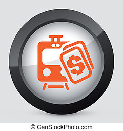 Vector orange and gray isolated icon.