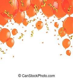 Vector Orange Balloons
