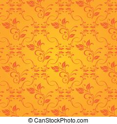 Vector orange baroque background
