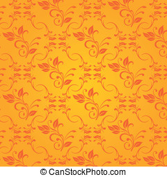 Vector orange baroque background