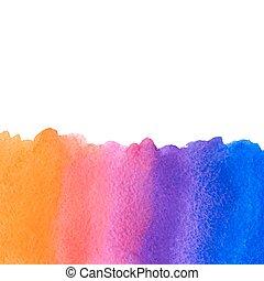 vector orange blue pink watercolor