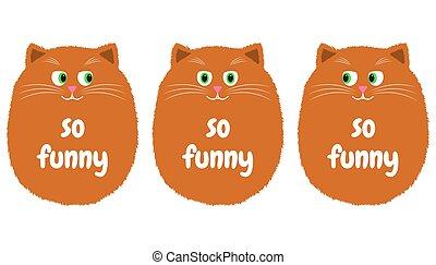 Vector Orange Cat in Cartoon Style. 1