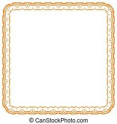 Vector orange frame on white background