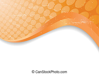 Vector orange grunge background