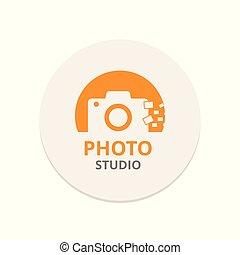 Vector Orange Icon for Photographer