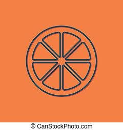 Vector orange icon