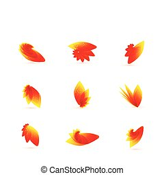 Vector orange leaves