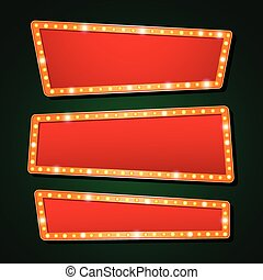 Vector orange neon lamp letters font show cinema or theather