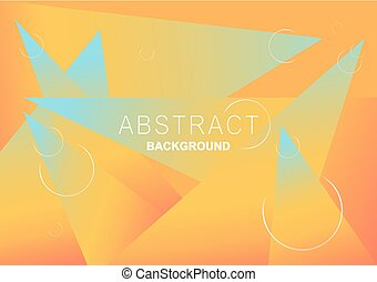 Vector orange, pink, blue gradient background. Abstract geometric triangles. circle elements. vector illustration