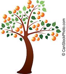 vector orange tree