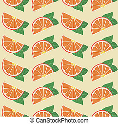 Vector oranges retro seamless pattern