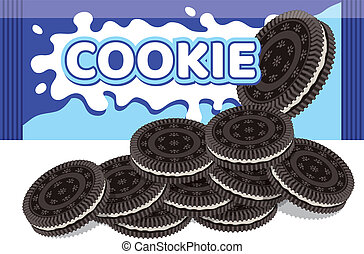 vector oreo cookie package