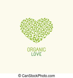 Vector organic and natural emblem and logo design template -...