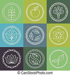 Vector organic emblems