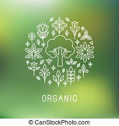 Vector organic logo